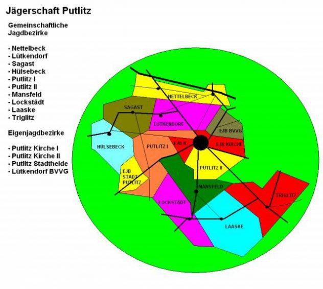 Jagdreviere Jägerschaft Putlitz
